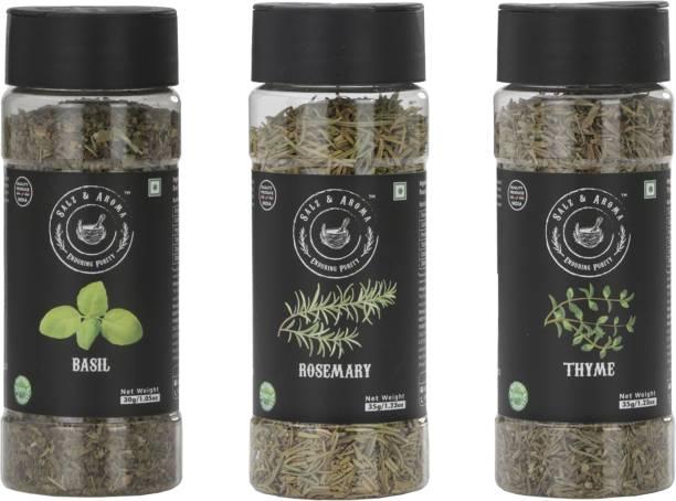 Salz & Aroma Basil (30 g), Rosemary (35 g) and Thyme (35 g)