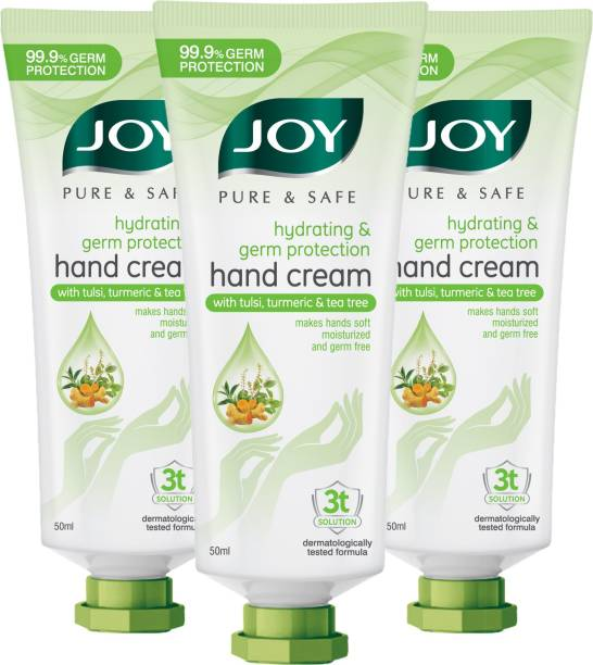 Joy Pure & Safe Hydrating & Germ Protection Hand Cream with Tulsi, Turmeric & Tea Tree
