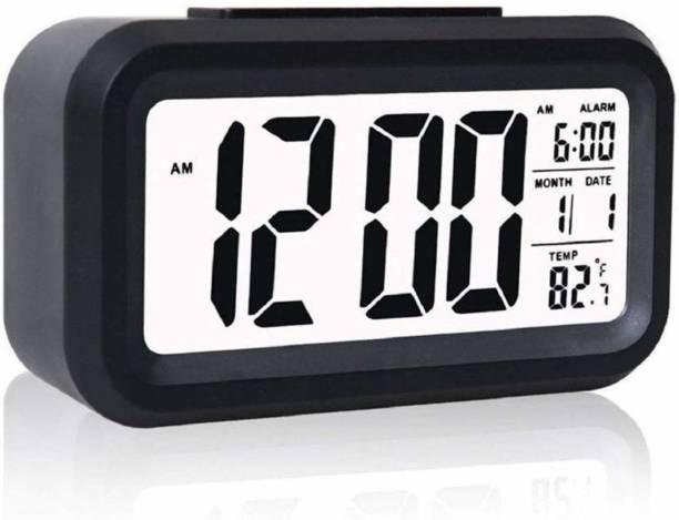 AMIGOS STORE Digital Black Clock