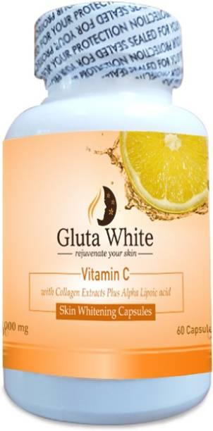 Gluta White Vitamin C with Collagen Extract plus Alpha Lipoic Acid Men & Women