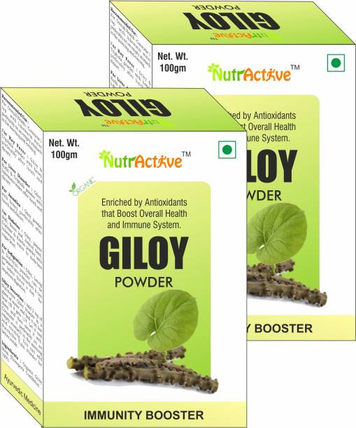NutrActive Organic Giloy Powder | Geeloh | Guduchi - Tinospora Cordifolia