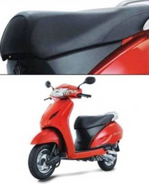 Adino Activa Scooty Seat Cover black Leatherite For Honda Activa Single Bike Seat Cover For Honda Activa 4G, Activa 5G, Activa 6G