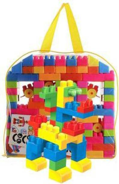 HPG 100 .. best Pieces Building Blocks for Kids with Wheel, Handy Packing,