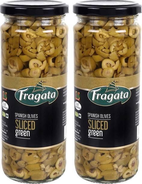 Fragata Olives Sliced Green 450g (Pack of 2) Olives