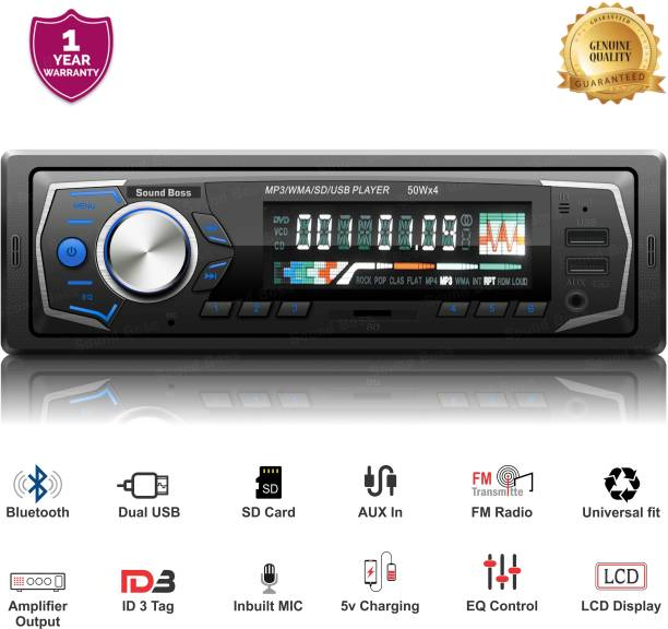 Sound Boss SB-15 Charge Pro+ DUAL USB Bluetooth Wireless With Phone Caller Id Receiver Universal Car Stereo