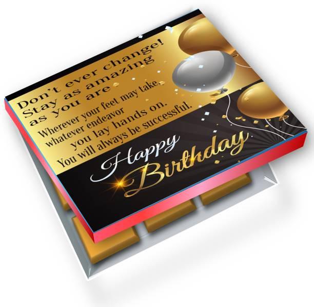 redbakers.in Happy Birthday Golden 12Chocolate Gift Box Truffles