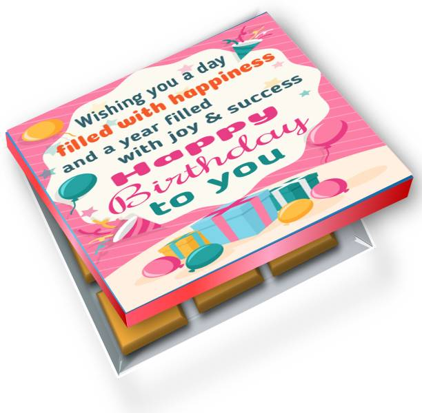redbakers.in Happy Birthday PimPom 12Chocolate Gift Box Truffles