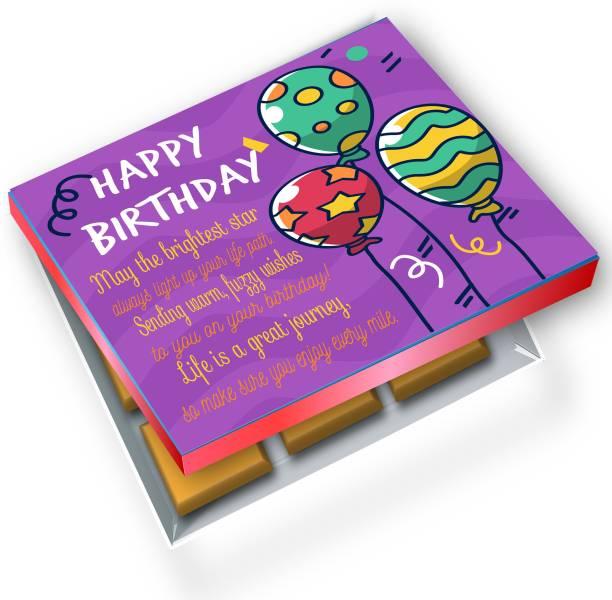 redbakers.in Happy BIrthday Purple 12Chocolate Gift Box Truffles
