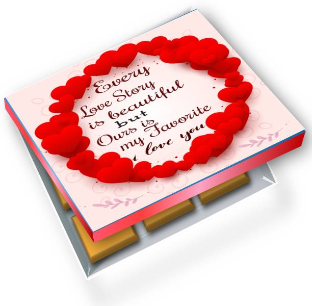 redbakers.in I Love You Favorite Love Story 12Chocolate Gift Box Truffles