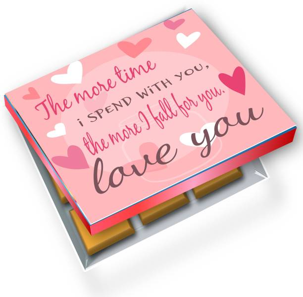 redbakers.in I Love You Pink 12Chocolate Gift Box Truffles