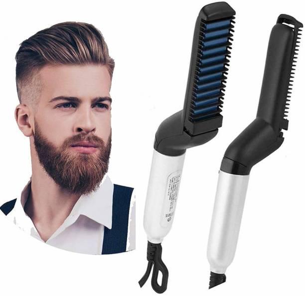 Golden Bucket Hair Straightener Electric Modelling Comb Hair Straightener Brush (Multicolor) Hair Curler