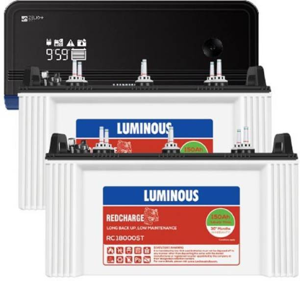 LUMINOUS RC18000ST+Zelio 1700VA Tubular Inverter Battery