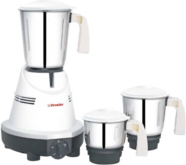Premier KM 512 021045 550 Juicer Mixer Grinder (3 Jars, White, Silver)