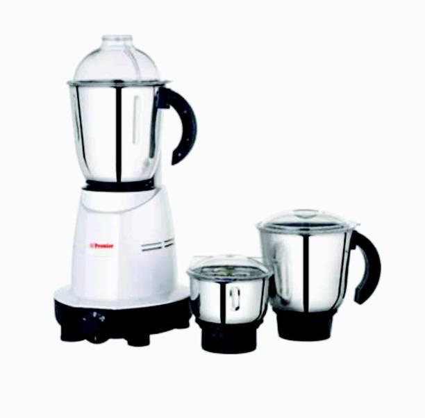 Premier KM 501 021021 500 Juicer Mixer Grinder (3 Jars, White, Silver)