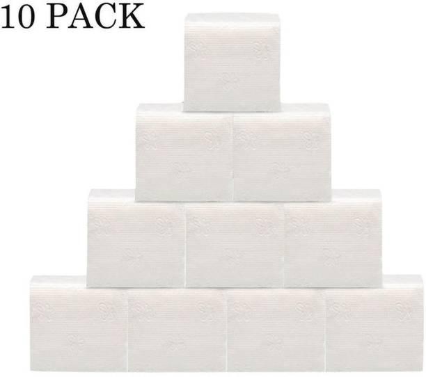 FeelFree 30x30cm/ pack of 10 (80pcs each) White Napkins