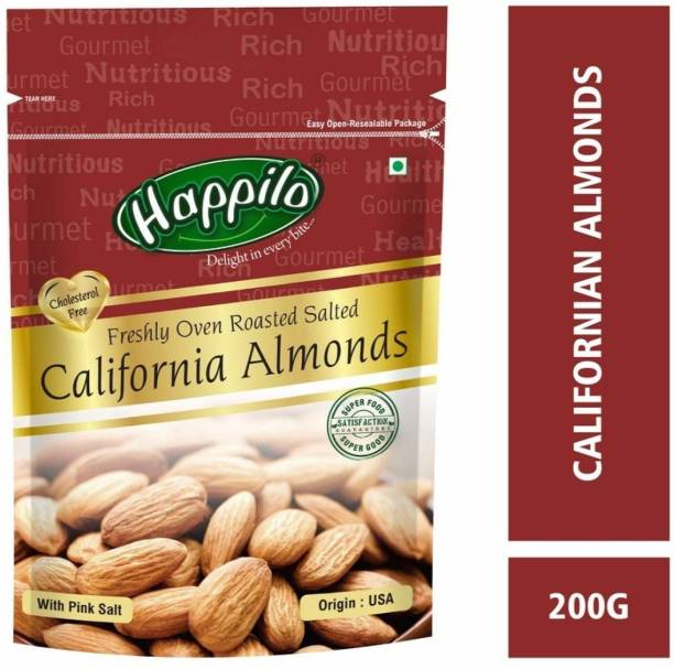 Happilo Premium Californian Roasted and Salted Almonds Almonds