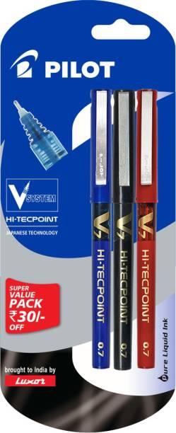 Pilot V7 (Pack of 3) Liquid Ink Rollerball Pen
