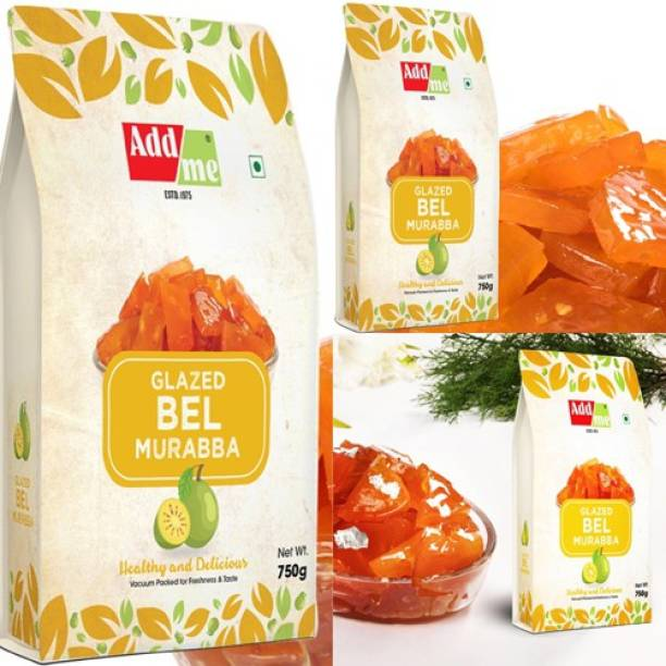 ADD ME Sweet Bel Murabba Pieces (Vaccum Packed Without Syrup) 750Gm bael (Pack of 3) Bel Murabba