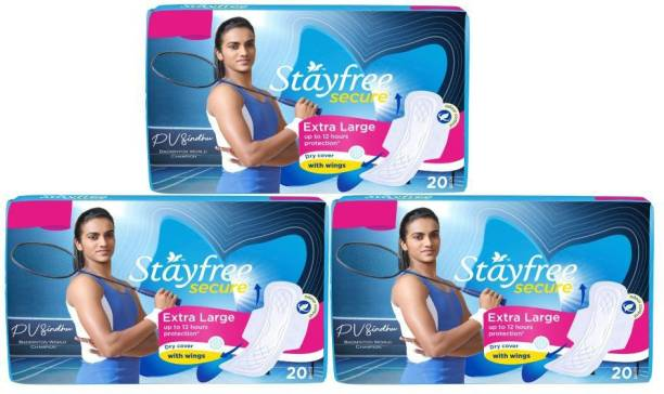 STAYFREE Secure Cottony XL Wings Sanitary Pad