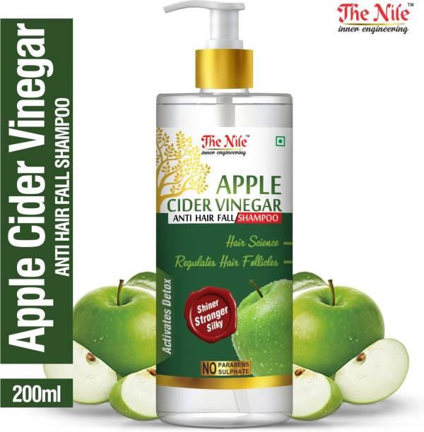 The Nile Apple Cider Vinegar Shampoo (No Sulfate, Paraben or Silicon), 200ml - Transforms Dull, Tired & Dry Hair into Soft, Smooth & Silky Men & Women (200 ml)