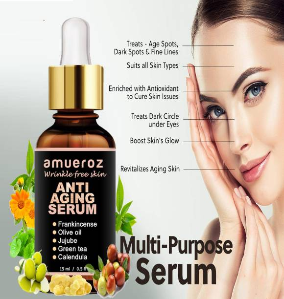Amueroz 24k gold Anti Aging serum , Active Anti wrinkle Collagen Serum , Vitamin C serum | Skin Whitening | Collagen Booster | Wrinkle Reducer