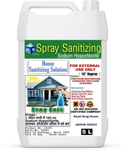 sodium hypochlorite house sanitizing solution spray safe & secure life FRESH