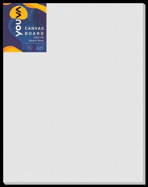 "Navneet Youva Canvas Board 14"" x 18"" Cotton Medium Grain Board Canvas (Set of 1)"