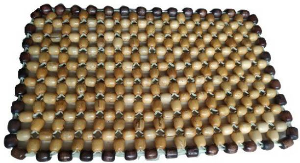 Q1 Beads Ventilated Wooden Beads Laptop Cooling pad/Heat Insulation Pad for All Brands Laptop,Rectangular 40 x 25 cm (Standard,Beige) Cooling Pad