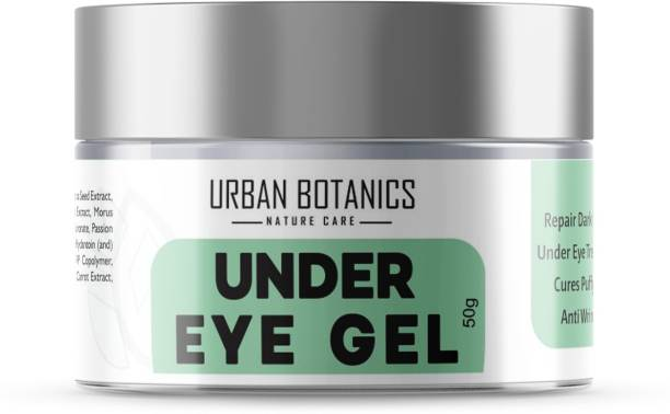 UrbanBotanics Under Eye Cream Gel for Dark Circles with Quinoa, Hyaluronic Acid, Niacinamide & Tomato Extract, 50g