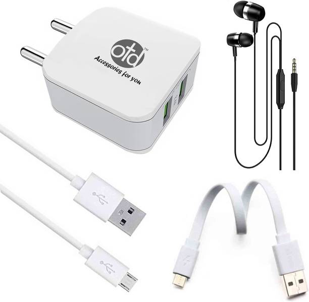 OTD Wall Charger Accessory Combo for Videocon Z55 Dash, Vivo iQOO U1, Vivo iQOO U1x, Vivo S1