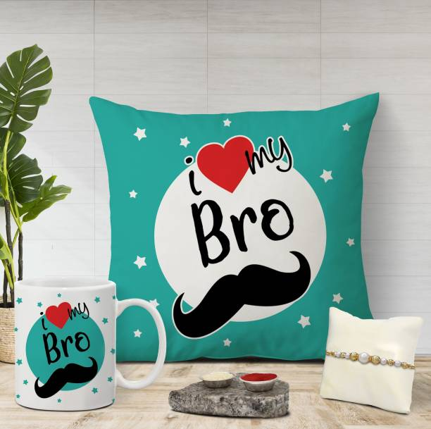 Flipkart SmartBuy Designer Cushion, Chawal Roli Pack, Rakhi, Mug  Set
