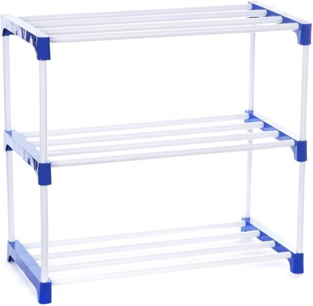 FLIPZON Multipurpose Rack Organizer for Shoe/Clothes/Books Metal, Plastic Shoe Stand