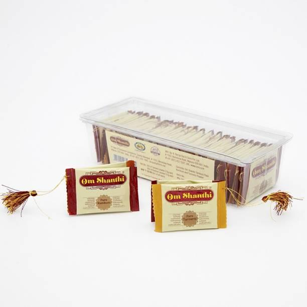 Om Shanthi Tambula Pouch Kumkum & Turmeric - Pack of 2