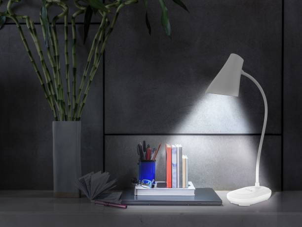 Ecolink by Philips 581869 3W EcoLink CAP Rechargeable LED Desk Light (White) Table Lamp