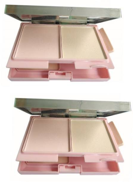 THTC 3 IN 1 SHIMMER & MATTE SHINY COMPACT POWDER Compact