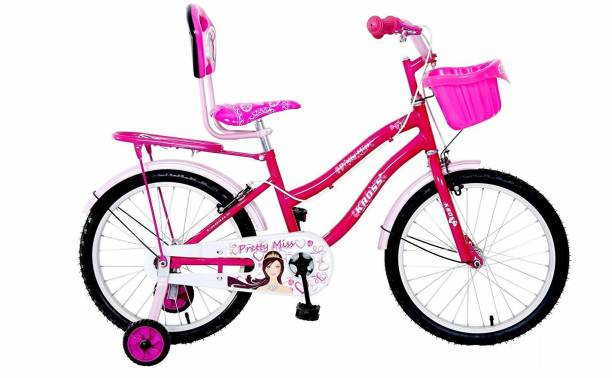 Kross Pretty Miss 20T Bicycle Basket & Stand, Girls Kids, Age 6-9 Years, Pink 20 T Girls Cycle/Womens Cycle