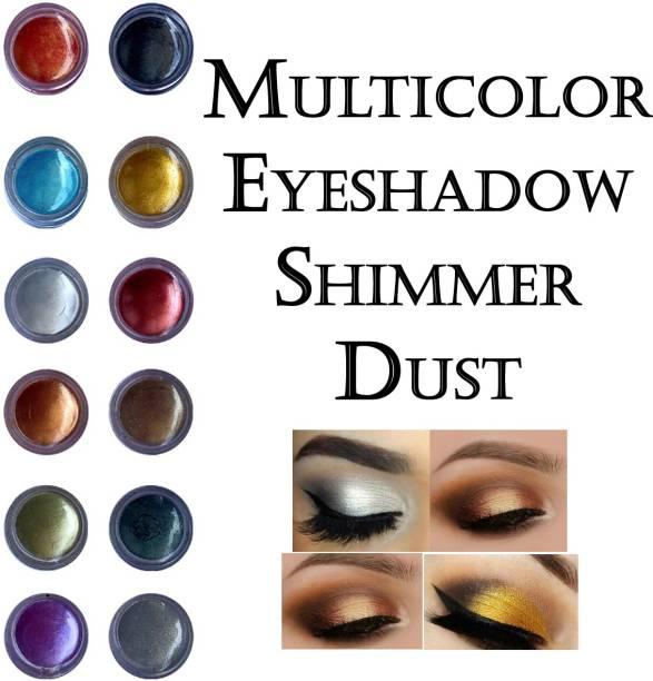 VOZWA Multicolor Shining Eyeshadow Shimmer Dust 12 Pcs 12 g