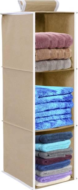 Flipkart SmartBuy Hanging 3 Shelves Wardrobe Organiser - Beige Shoe Organizer