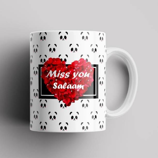 Beautum Model EBMSU018571 MISS YOU Salaam Name Printed Best Gift Multicolor Ceramic Ceramic Coffee Mug