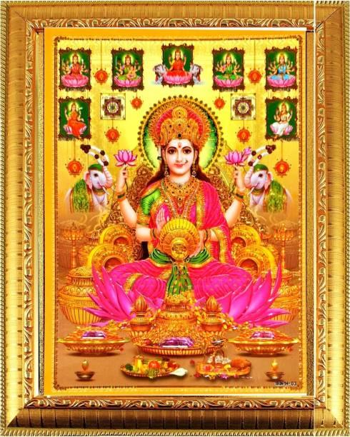 SUNINOW Asht Laxmi Photo Frame | Hindu Bhagwan Devi Devta Photo | God Photo Frames | Wall Décor Photo Frame | Photo Frame Religious Frame