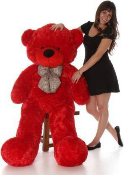 Ziraat 4 FEET RED TEDDY BEAR FOR GIFT ST AACC  - 122 cm