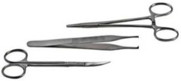 Forgesy Set Of 3 Pieces(needle holder,dissecting forceps ) Fixation Forceps