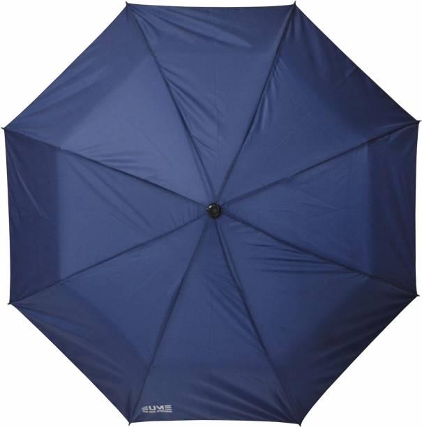 "EUME 3 Fold Hand Open 21.5"" (546 mm) Men/Women UV Protection Monsoon/Rainy & Sun Umbrella Umbrella"