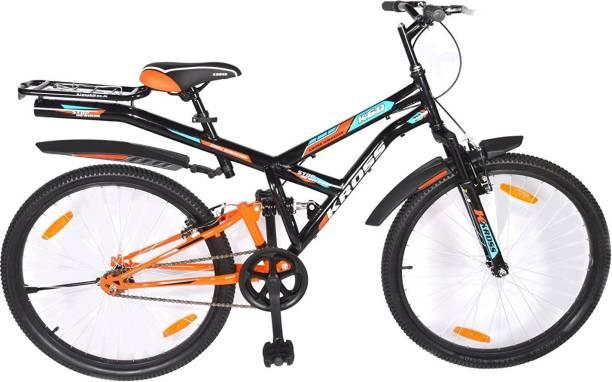 Kross K-60 26T Black Mountain Bike with Socker, Boys Men Girls Cycle,Age 12+ Years 26 T Mountain Cycle