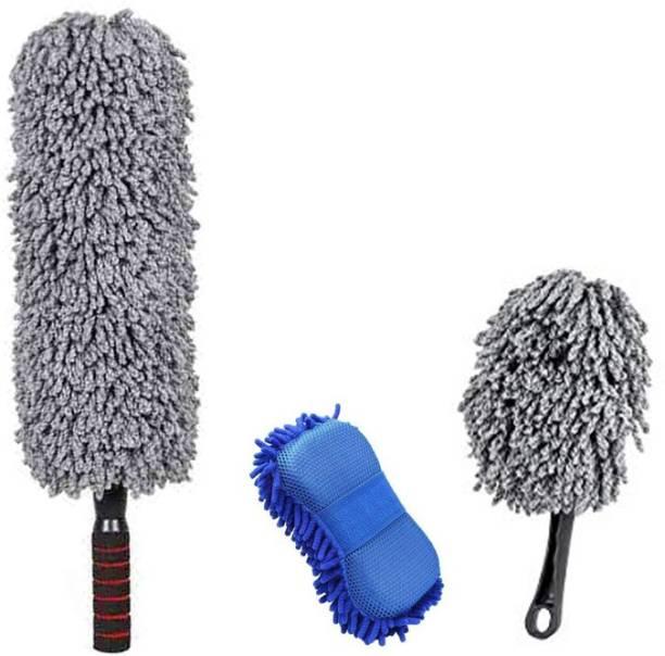 TONY STARK TONY Stark Car Duster - Round+Sponge+Mini Wet and Dry Duster Set