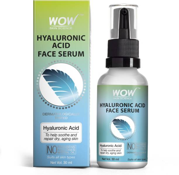 WOW SKIN SCIENCE Hyaluronic Acid Face Serum - Soothing & Repairing Dry and Aging Skin - For All Skin Types - No Parabens, Silicones & Mineral Oil - Glass Bottle - 30ml