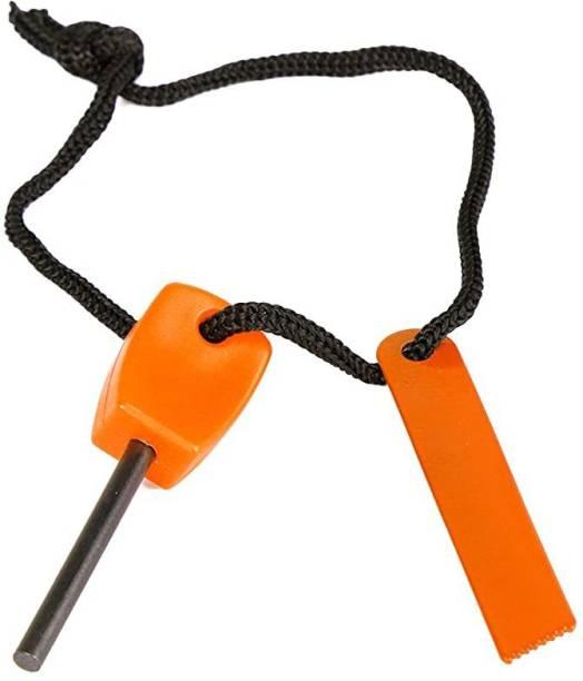 Protos India.Net Fire Starter Magnesium Flint Spark Fire Tool Key Shape Mini Portable Magnesium Fire Starter
