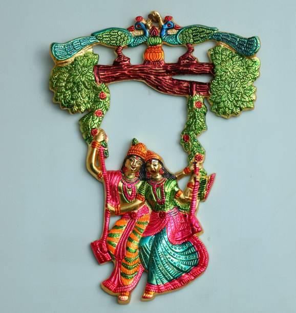 Chhariya Crafts Radha Krishna Tree Jhula Wall Hanging Decorative Showpiece  -  35 cm