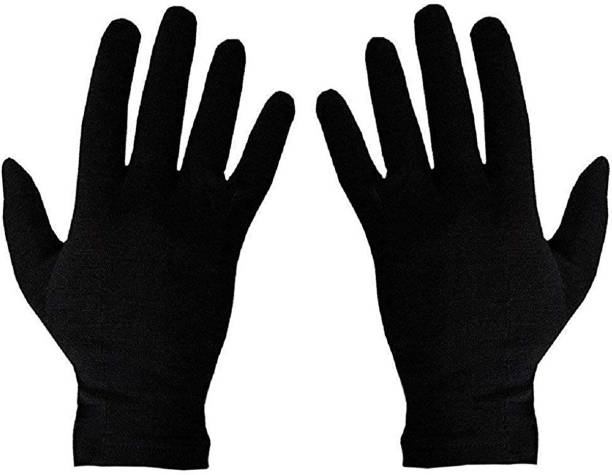 Rai Black Cotton Riding Gloves