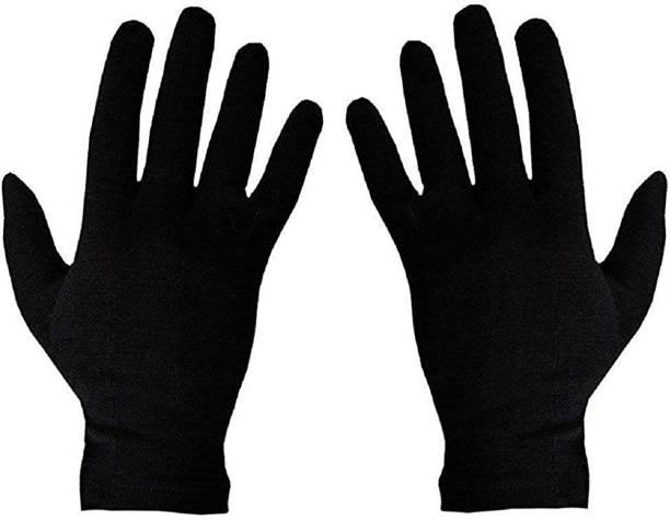 Rai Black Cotton Riding Gloves